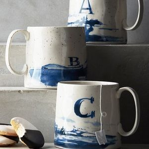 Anthropologie Letter C Mug